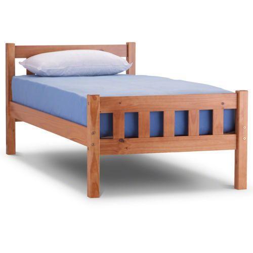 Single Bed Frame Solid Pine Jaye Single 3ft New Wooden Bedroom