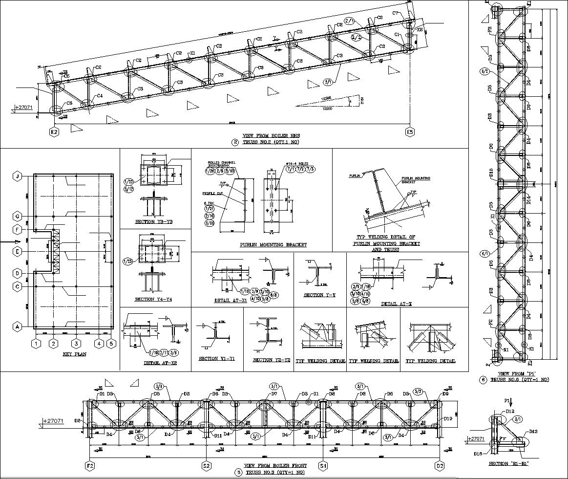 Truss Style Diagram Human Eye Anatomy Worksheet Construction Best Wiring Library Structure Details V7 Cad Design Free Blocks Drawings