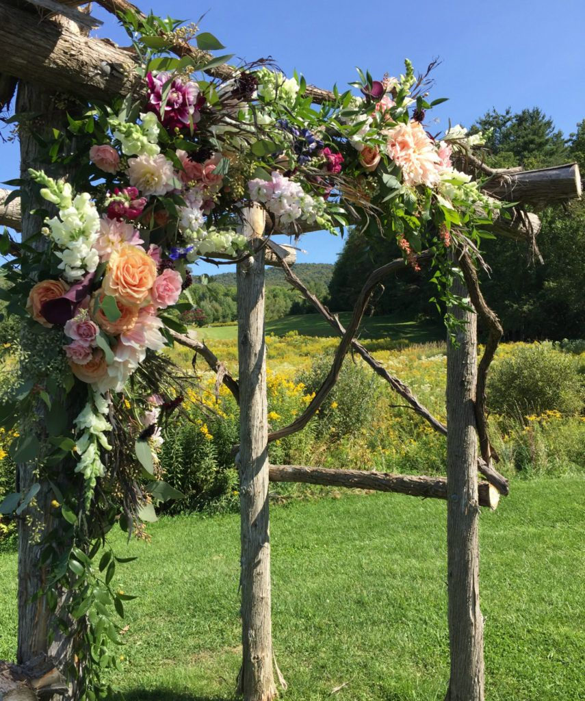Vermont Wedding Flowers: Wedding Arbor For Vermont Wedding. Floral Artistry By