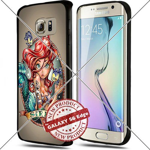 Samsung Galaxy S6 Edge Princess Ariel Art Pin Up Cute Cool Cell Phone Case Shock-Absorbing TPU Cases Durable Bumper Cover Frame Black Lucky_case26 http://www.amazon.com/dp/B018KORJA6/ref=cm_sw_r_pi_dp_-C8vwb1JB061T