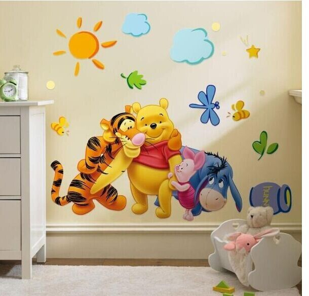 Removable Winnie The Pooh Wall Sticker Vinyl decals For Nursery Baby Room Decor QT0028-in Wall Stickers from Home u0026 Garden on Aliexpress.com | Alibaba Group & Removable Winnie The Pooh Wall Sticker Vinyl decals For Nursery Baby ...