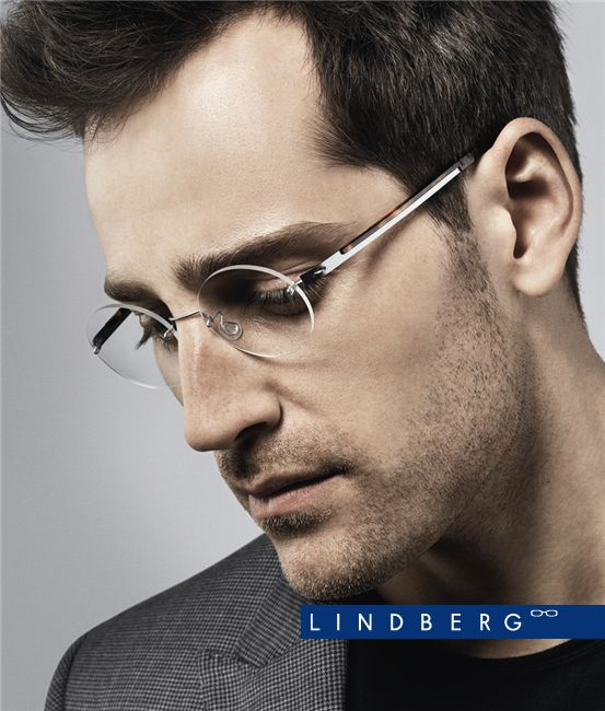 Rimless Glasses Look Good : LINDBERG Spirit Titanium 2111 C. K25/10. Eyewear ...