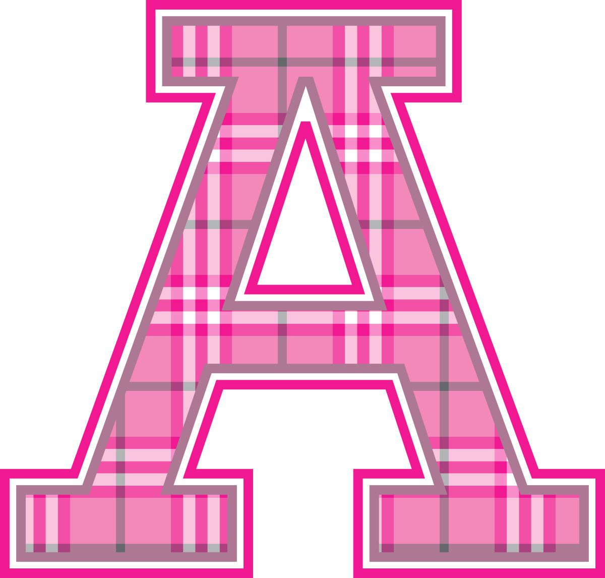 Plaid-w-Pop-Wall-Letter-A.jpg (1200×1146) | Color - SHADES OF PINK ...
