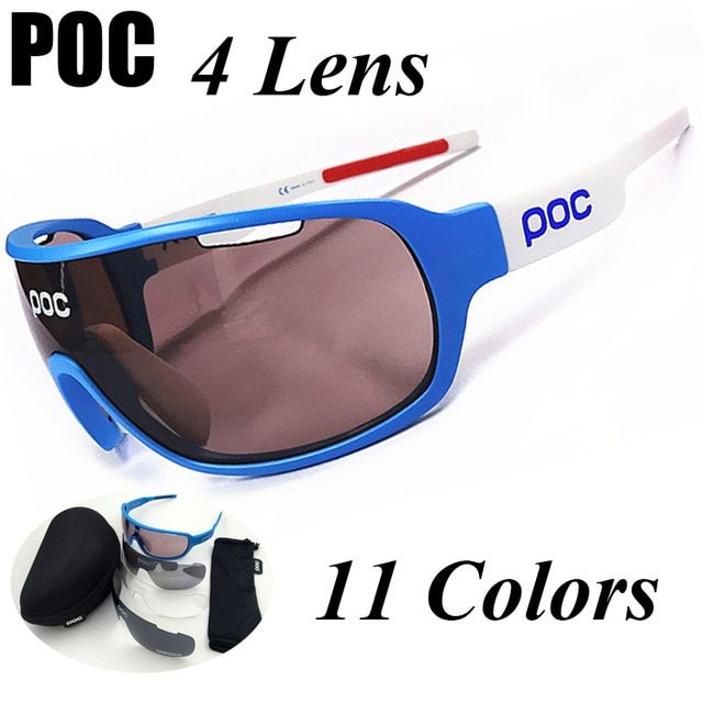 ef049f3f1fd POC 2018 New 4 Lens Polarized Cycling Eyewear Men Women Sports Sunglasses  Bike Bicycle Glasses Outdoor Goggles Gafas Ciclismo Review