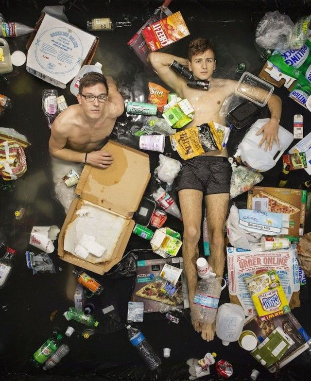 Photography Of People With 7 Days Of Their Trash