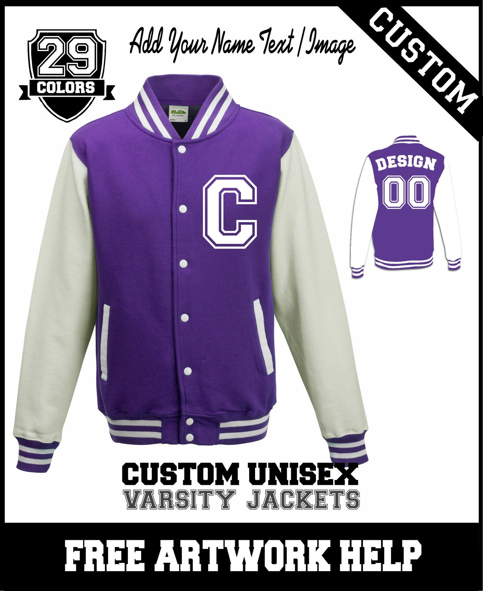 personalised varsity jackets for dance team name print purple ...