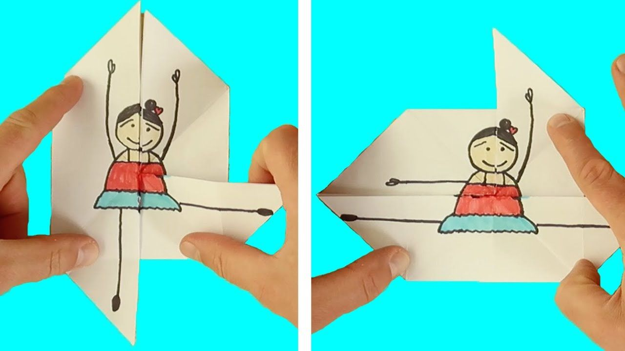 Photo of Origami für Kinder – Origami Moving Dancer Tutorial (sehr einfach) TOTAL COOL PAPER CRAFTS