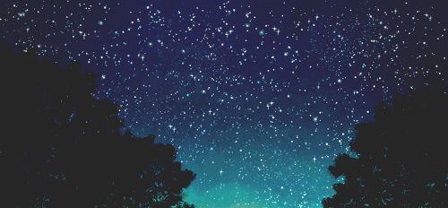 Illustration Anime Sky Landscape Night Stars Scenery Anime Scenery Sky Anime Anime Scenery Night Sky Drawing