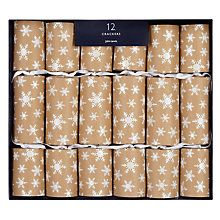 Buy john lewis snowshill kraft snowflake crackers box of 12 online shop for christmas crackers online from our christmas shop whether you want to make your own or buy a celebration box of crackers we offer free delivery solutioingenieria Choice Image