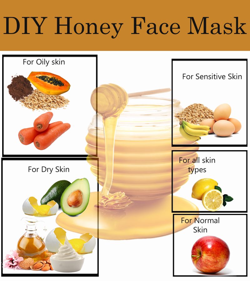 Try the honey lemon face mask, honey, and cinnamon mask