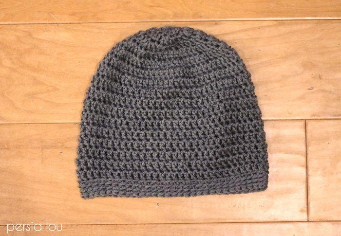 Simple Slouchy Crochet Hat Pattern for Beginners | Pinterest | Diy ...