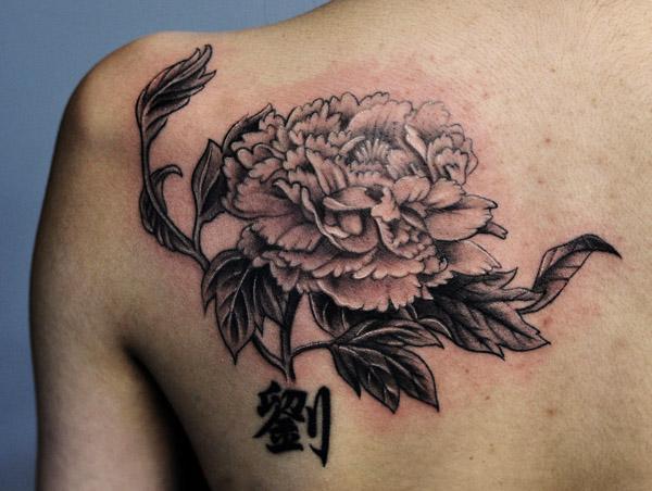 Toronto tattoo shop Chrysanthemum tattoo with Chinese