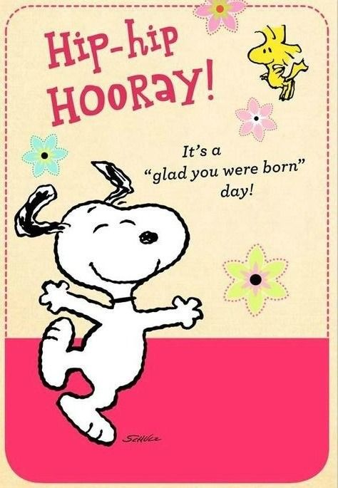 Pin by johanna sanchez on charlie brown pinterest snoopy its a glad you were born day happy birthday snoopy woodstock bookmarktalkfo Gallery