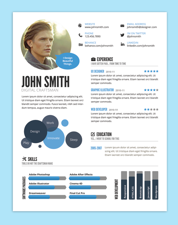 9 creative resume design tips with template examples design