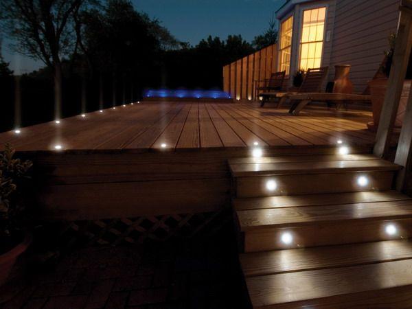 Outdoor Deck Designs | ... Ideas For Outdoor Patio And Deck Lighting: Outdoor  Patio Light Ideas | Decks | Pinterest | Wooden Decks, Deck Lighting And ...