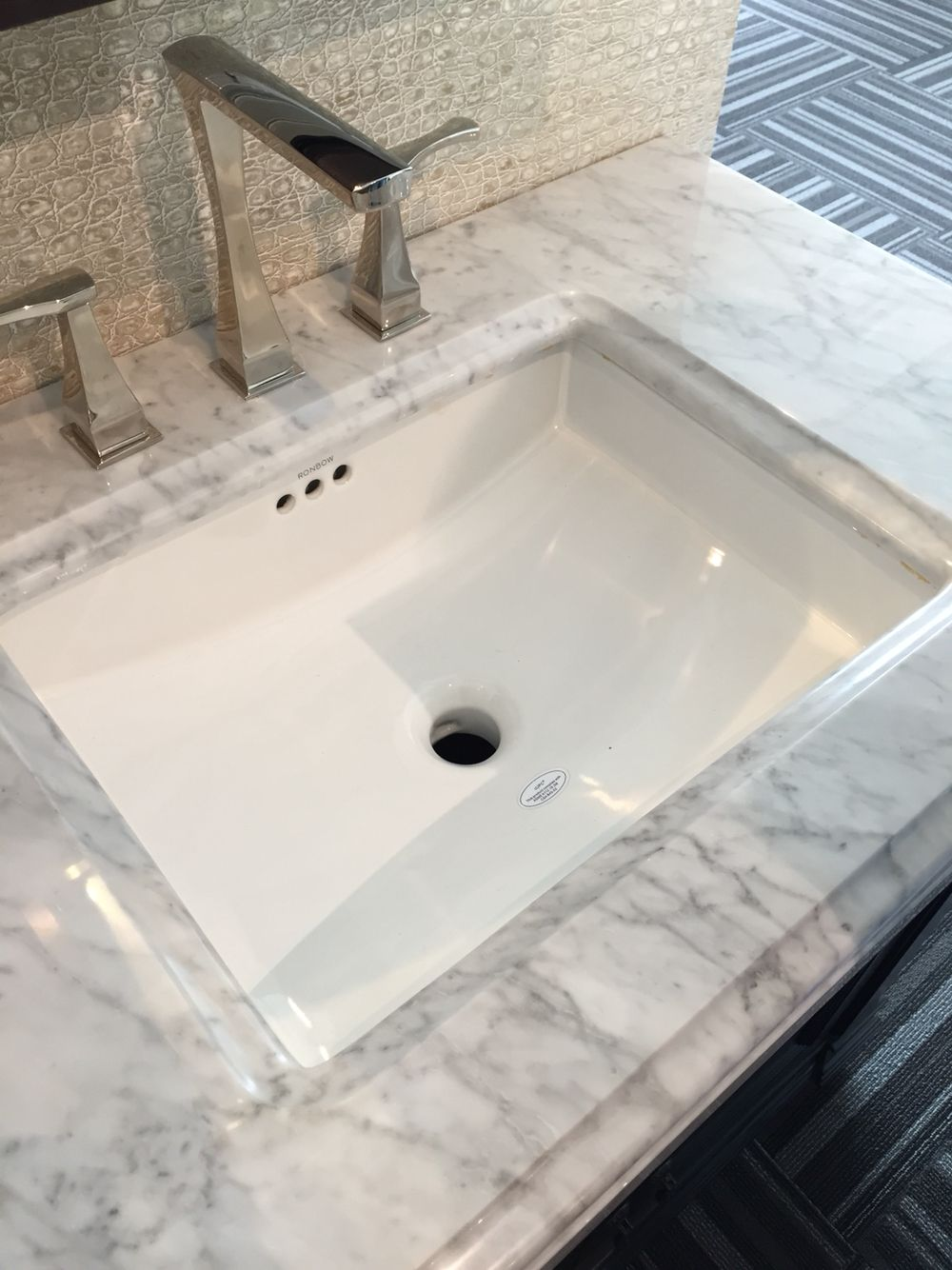 Ronbow 200520 rectangle undercounted ceramic sink (Westheimer Plumbing and Hardware) $248