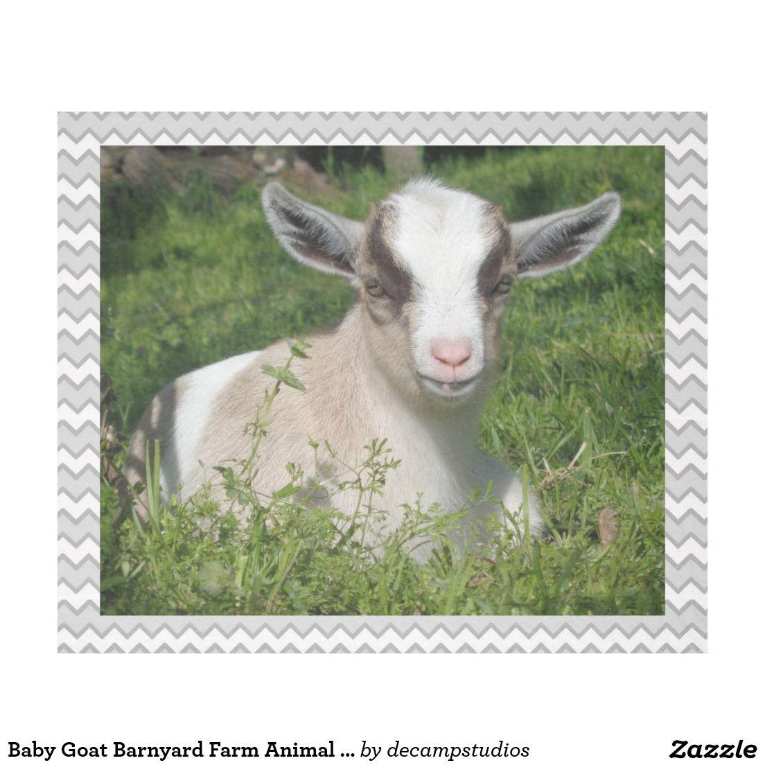 8b76a5b178 Baby Goat Barnyard Farm Animal Grey Gray Chevron Fleece Blanket   decampstudios