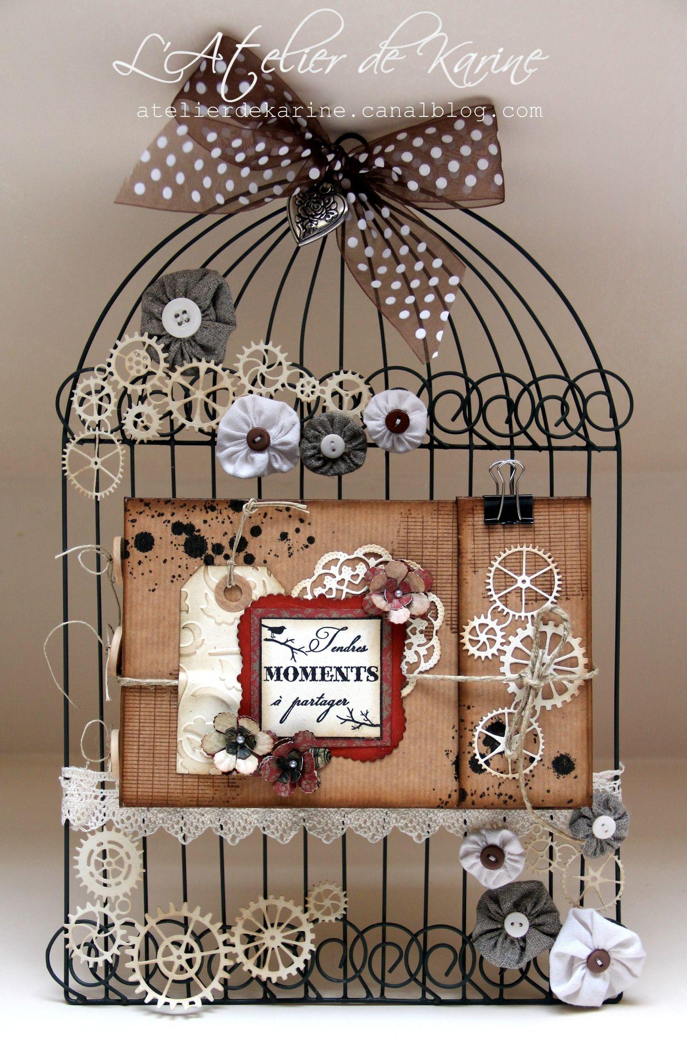 home d co cage et son mini objets scrap scrapbook scrap et mini albums scrap. Black Bedroom Furniture Sets. Home Design Ideas
