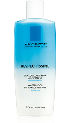 All about Respectissime Waterproof Eye Make-Up Remover, a product in the Respectissime range by La Roche-Posay recommended for Sensitive Eyes. Free expert advice