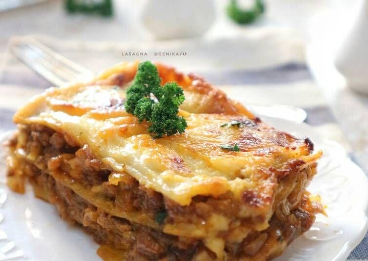 Resep Lasagna Oleh Genika Yulia Resep Resep Makanan Makanan Lasagna