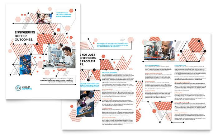 Computer Engineering Brochure Template Design By Stocklayouts