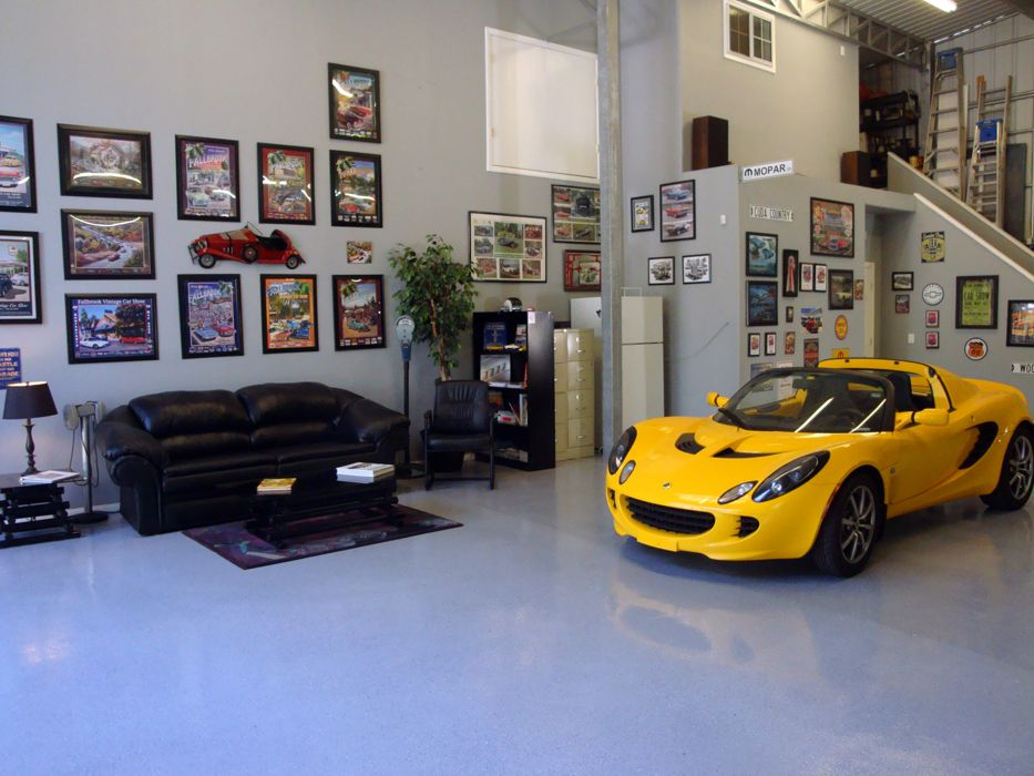 Organize your garage with cabinets and decor from http://www.carguygarage.com Here is a customer who earned a free tshirt with this garage photo. Send in your garage photo at http://www.carguygarage.com/pictures.html