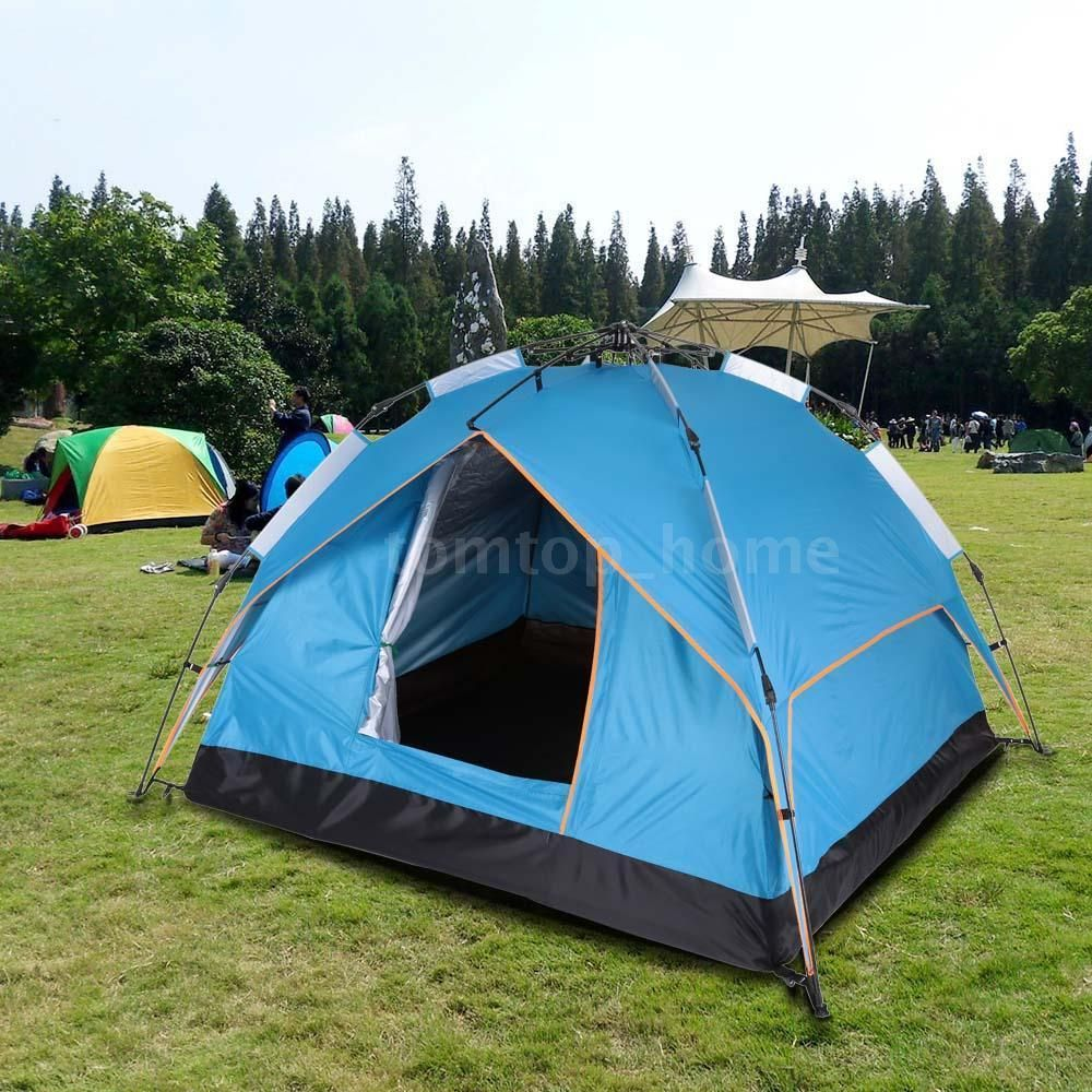 Instant Automatic Pop Up Backpacking C&ing Hiking 3-4Persons Tent Blue HotSale & Instant Automatic Pop Up Backpacking Camping Hiking 3-4Persons ...