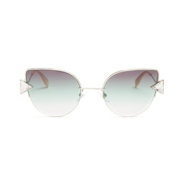 018a6b3d688 Fendi Rainbow cat-eye sunglasses ( 312) ❤ liked on Polyvore featuring  accessories