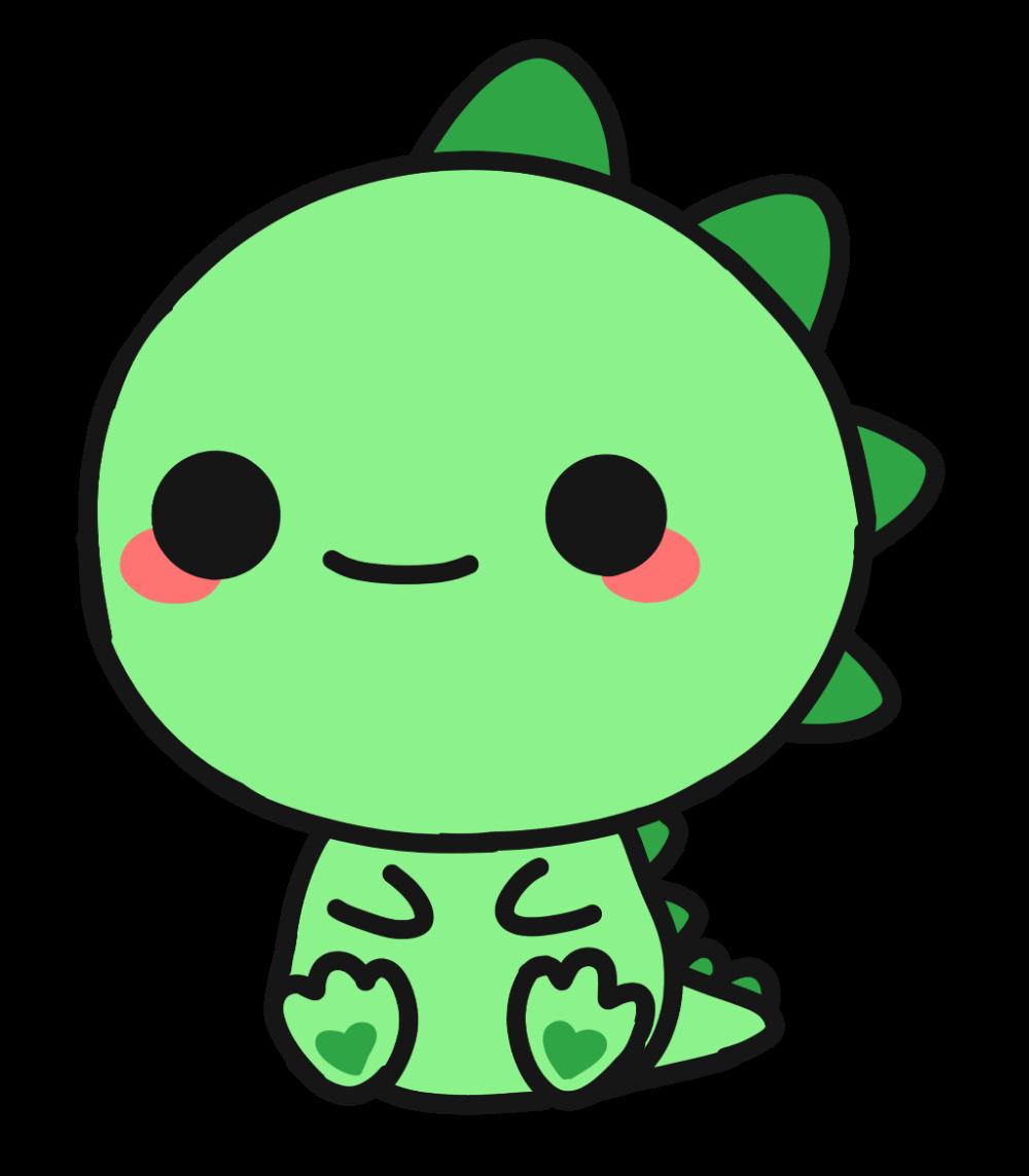 Cute Dragon Green Animal Sticker By Luna Cute Kawaii Drawings Cute Animal Drawings Kawaii Kawaii Dinosaur