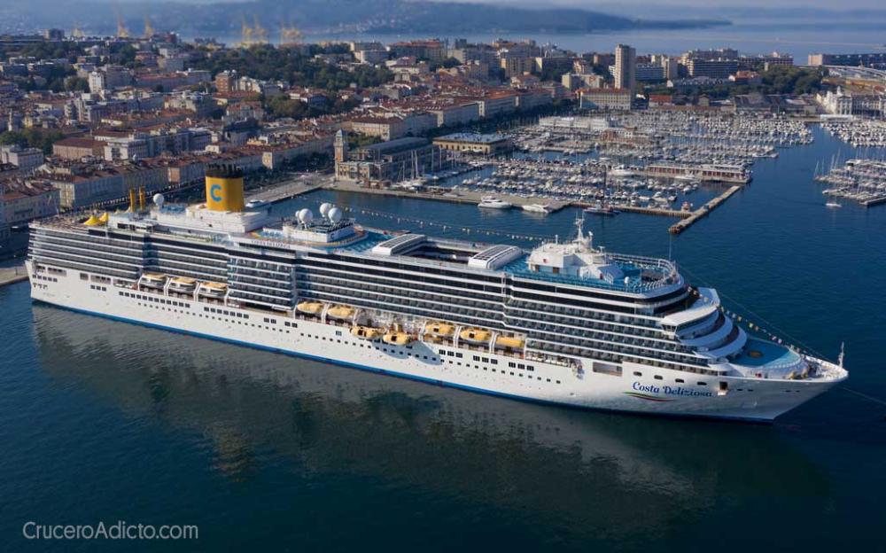 Parte Desde Trieste El Costa Deliziosa Tras Meses Sin Actividad Por La Pandemia Costa Cruceros Costa Cruceros