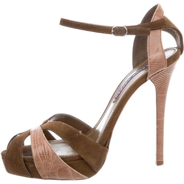 factory outlet cheap online excellent sale online Ralph Lauren Collection Multistrap Suede Sandals sale 2014 new discount cheap online LWpTv30a9