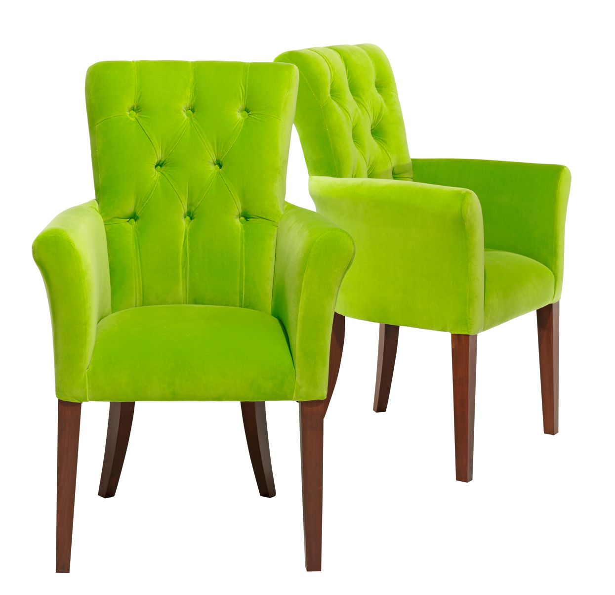 These Bright Lime Green Chairs From Sofa Design Add Some Colour To The Dining Room Dining Chairs Green Accent Chair Green Chair