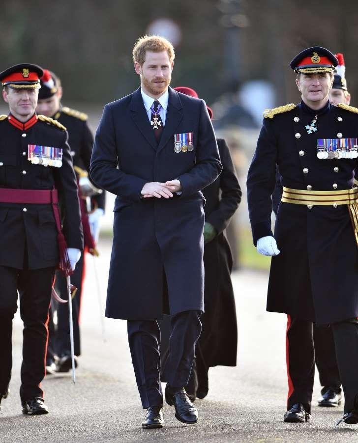 Prince Harry Et Al. Standing Together In Uniform
