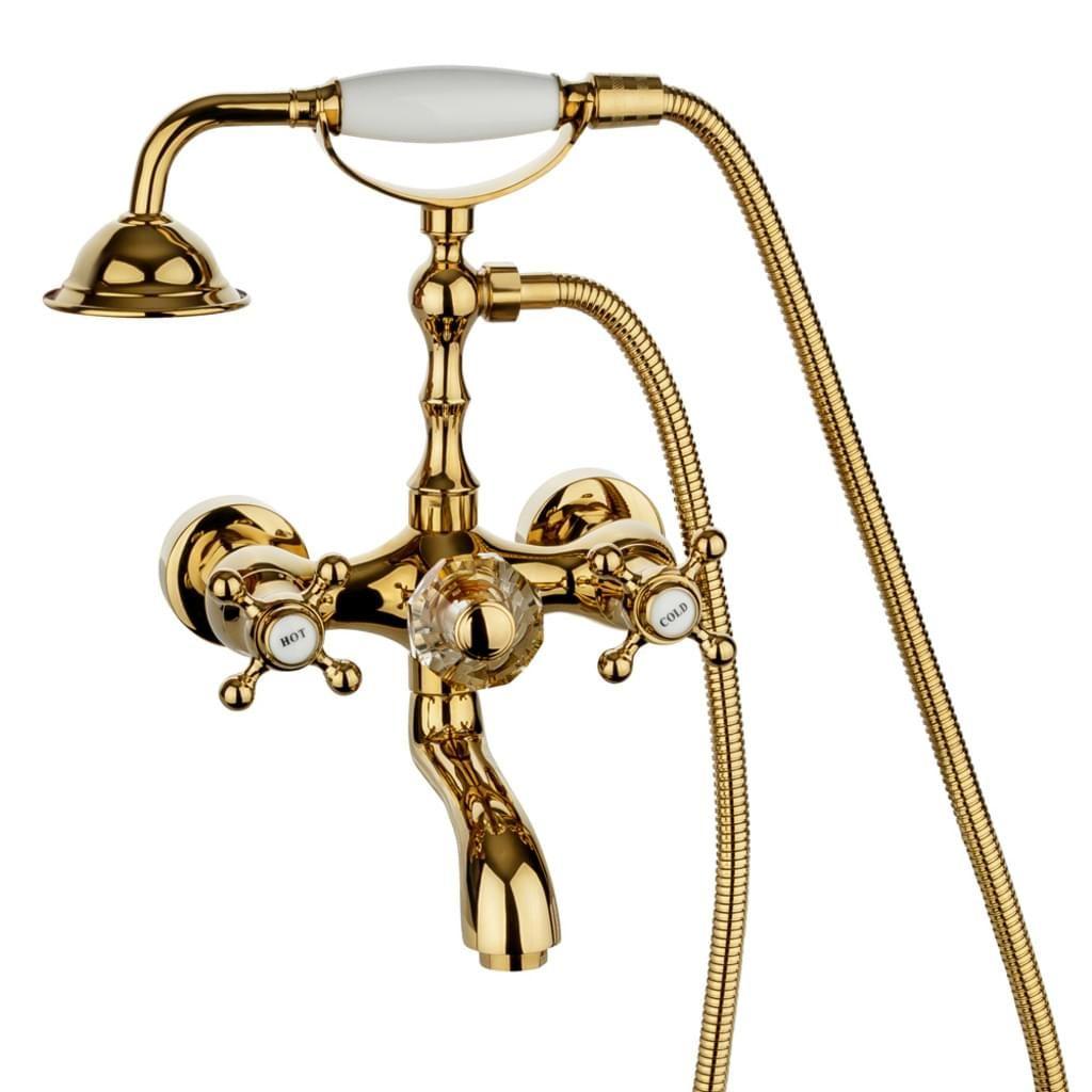 Sehr Edle Und Herrlich Nostalgische Armatur Fur Ihre Badewanne Diese Armatur In Einem Gold Ton Gibt Ihrem Badezimmer Ein Ein In 2020 Armaturen Bad Armaturen Badewanne