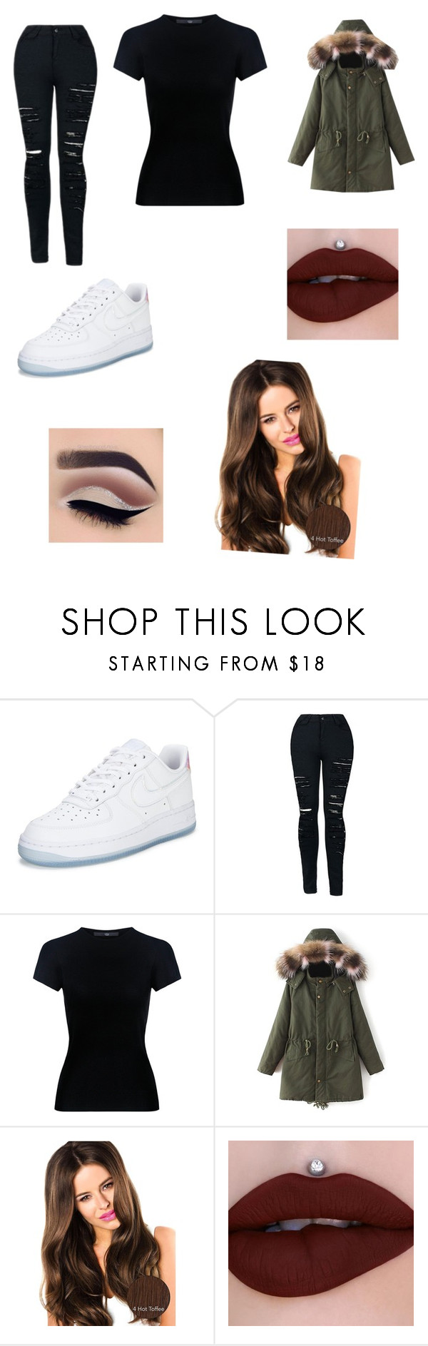 """""""💋"""" by nicolettaporg ❤ liked on Polyvore featuring NIKE and TIBI"""