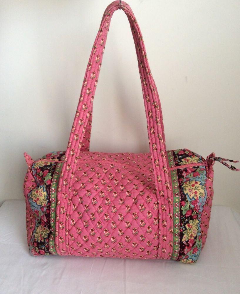 a49415c8703 Vera bradley Small duffel bag in Retired Pink Pansy pattern   eBay ...