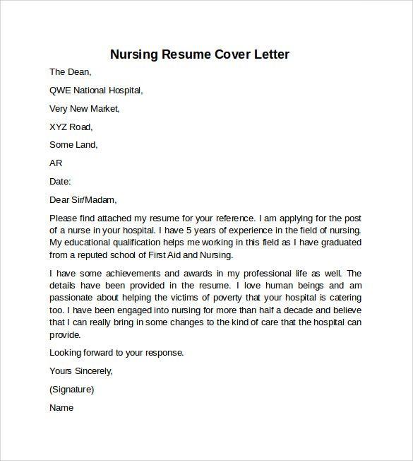 Sample Nursing Cover Letter Examples Download Nurse Resume  Home