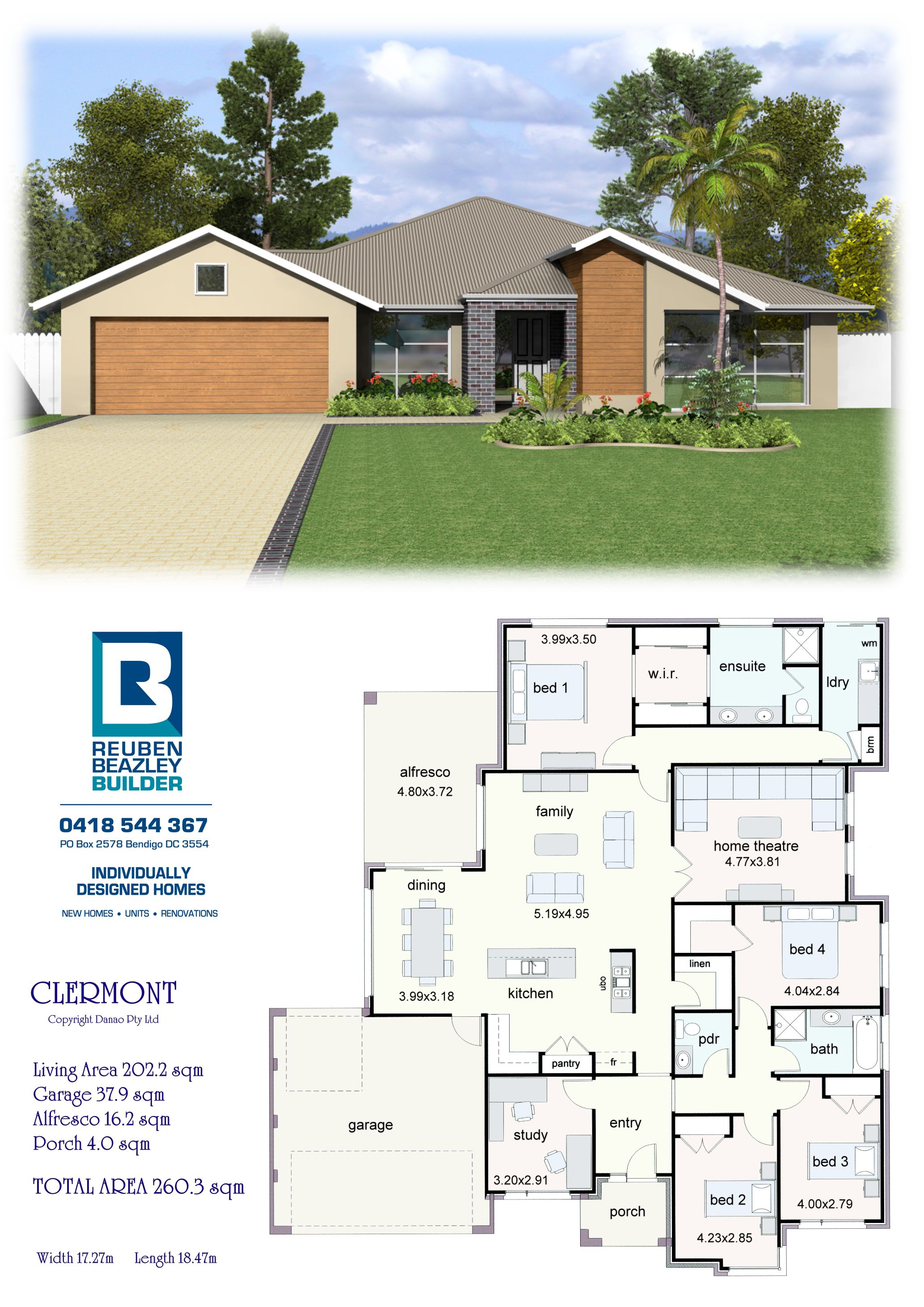 The Clermont House Construction Plan My House Plans Dream House Plans
