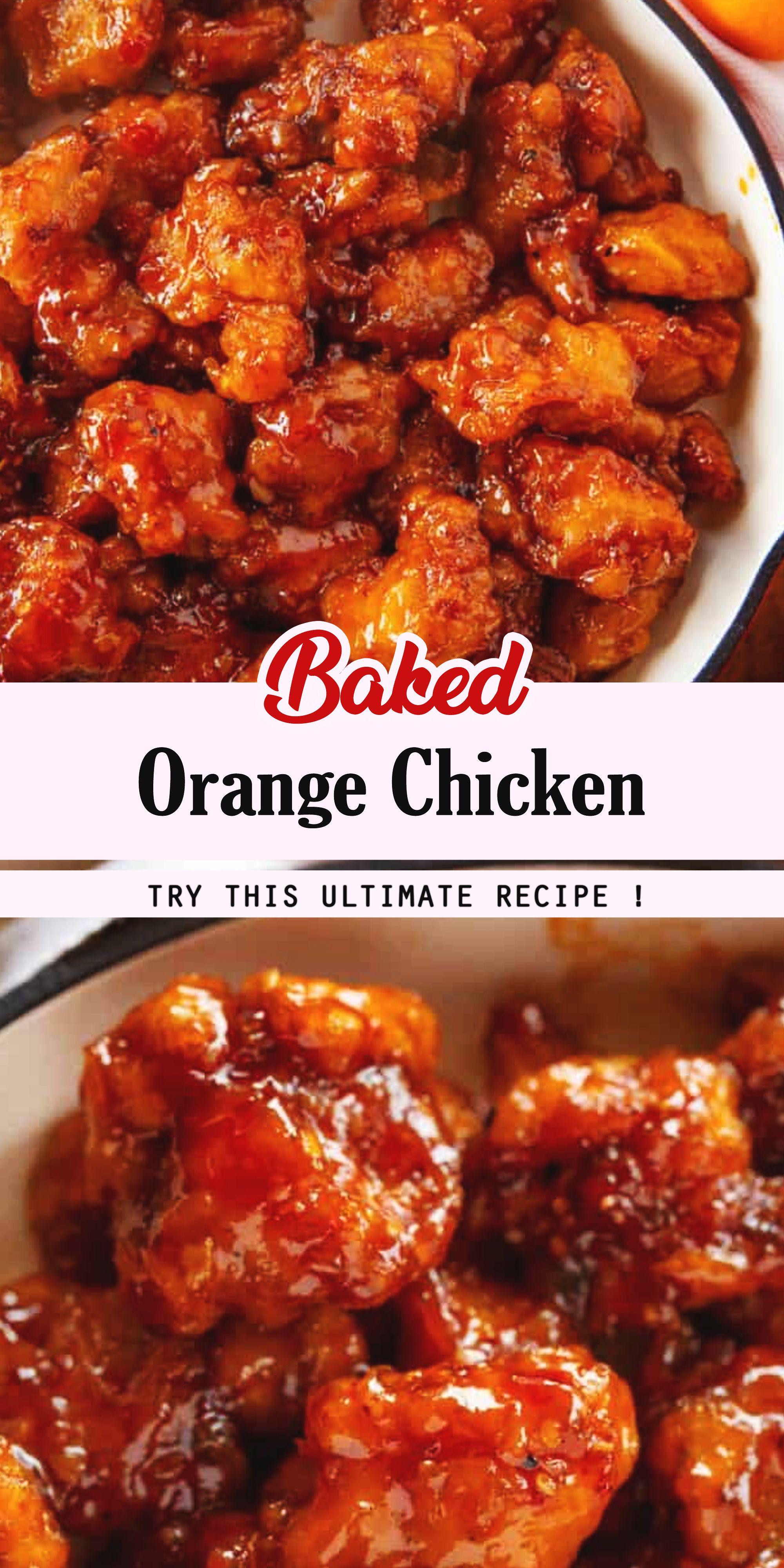 Baked Orange Chicken in 2020 | Chicken recipe easy quick ...