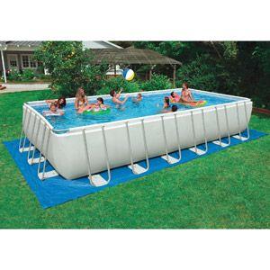 Intex 24 39 x 12 39 x 52 ultra metal frame above ground pool for Above ground pool decks walmart