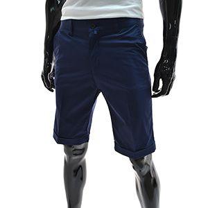 (NDSP01-NAVY) Mens Casual Slim Stretchy Cotton Shorts
