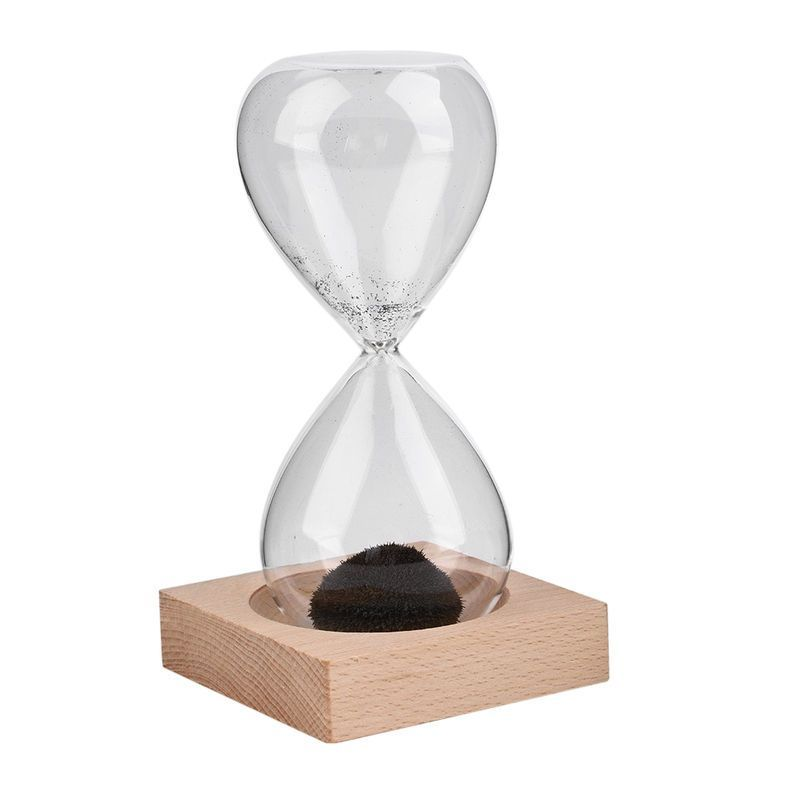 Hand Blown Glass Sand Magnet Magnetic Hourglass Timer Clock Gift Home Decor Nj