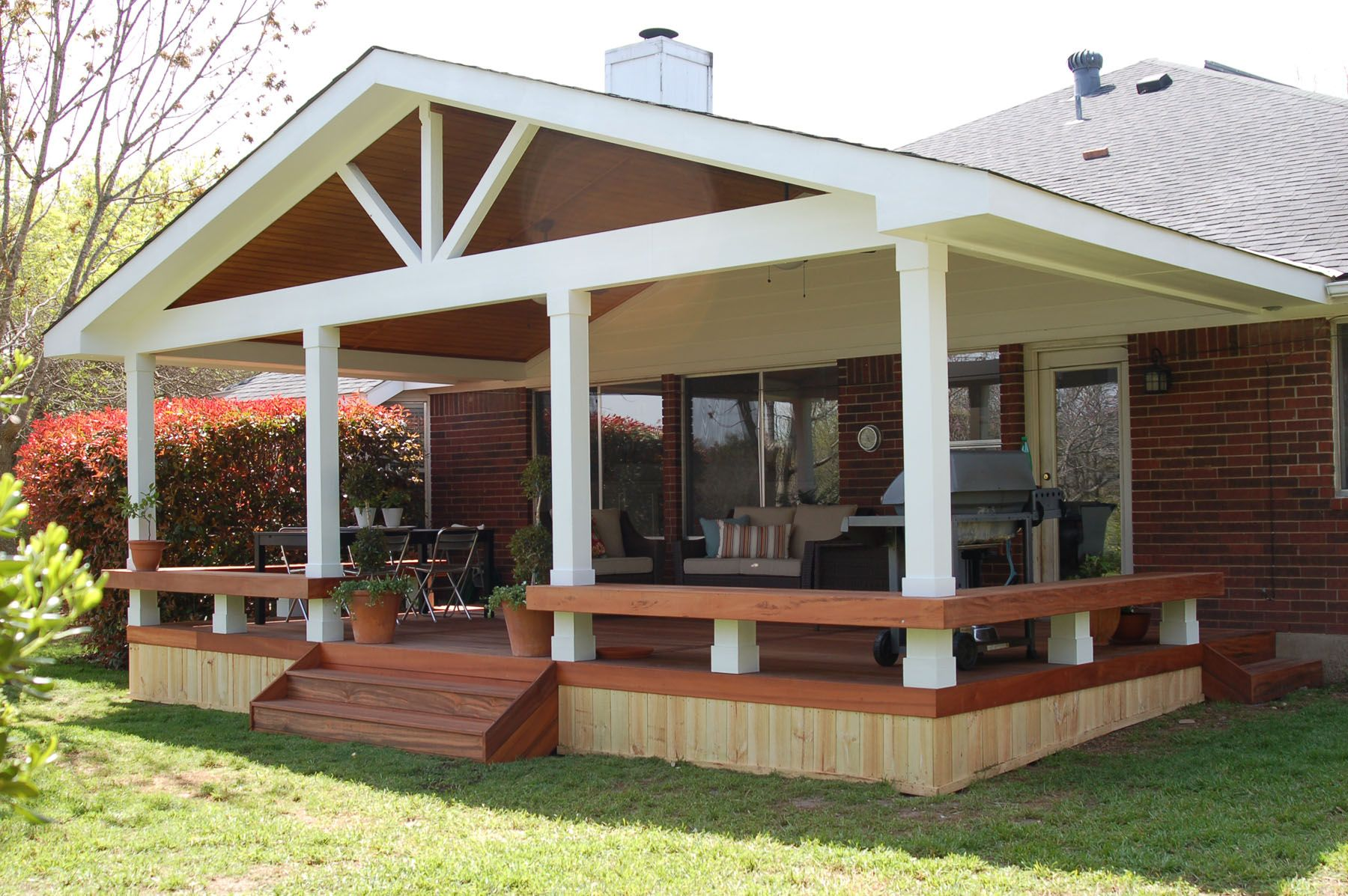 Deck designs related posts outdoor deck decorating ideas for Porch roof designs