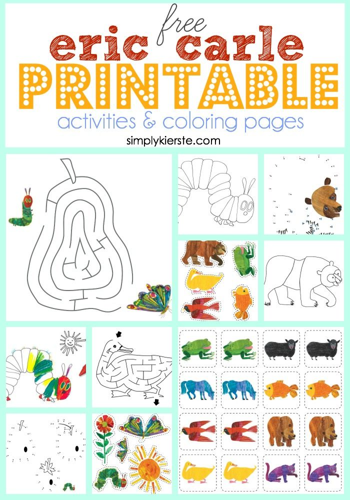Eric Carle Coloring Pages This Is My Eric Carle Coloring Book Inspired By Eric Carle And Drawn Bear Coloring Pages Coloring Pages Coloring Books