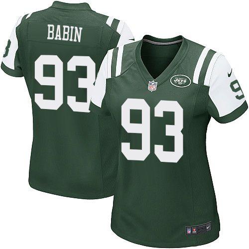 nfl new york jets jason babin women game green 93 jerseys