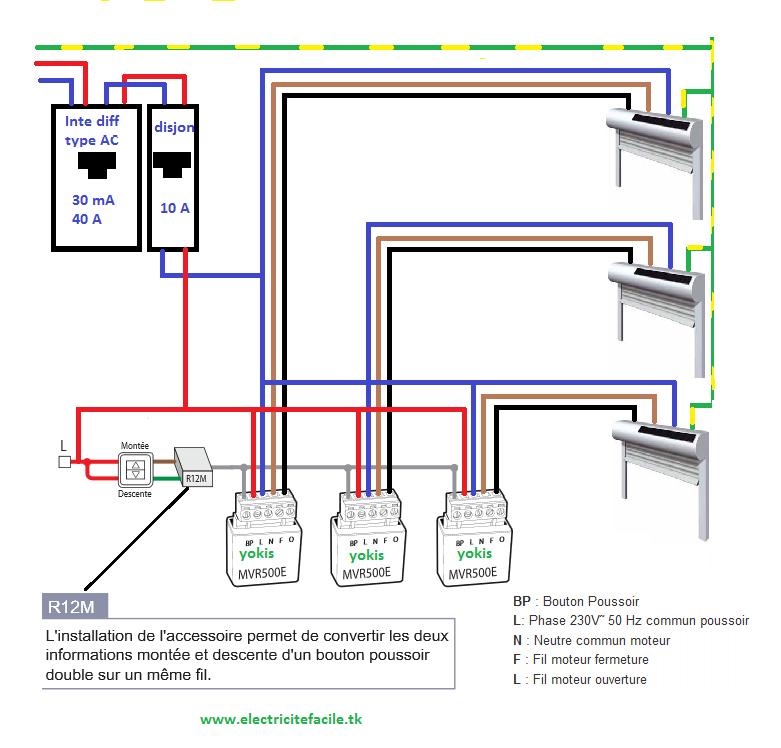 Centralisation De Volets Avec Micromodules Shema Electrique Domotique Volet
