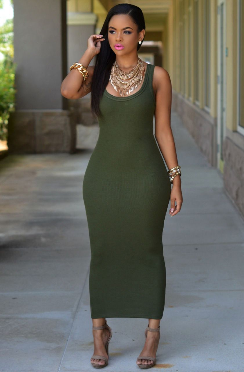 plus size tank top dress | Maxi dress with sleeves