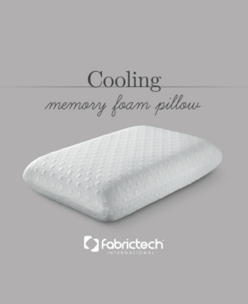 Fabrictech Fabric Tech Cool Cover Memory Foam Standard Pillow Reviews Pillows Bed Bath Macy S Memory Foam Memory Foam Pillow Foam Pillows