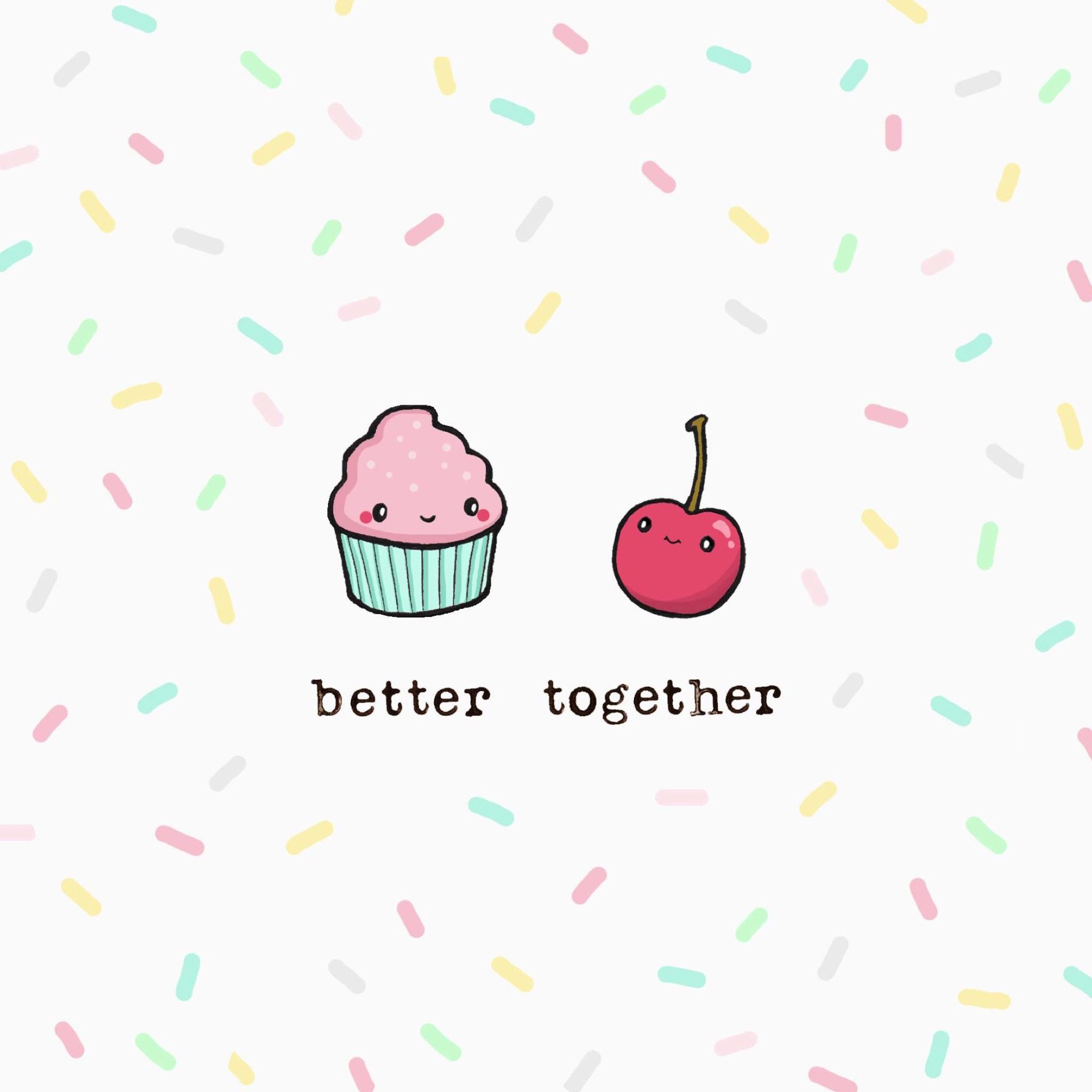 So cute!!!) Wallpaper iphone cute, Better together