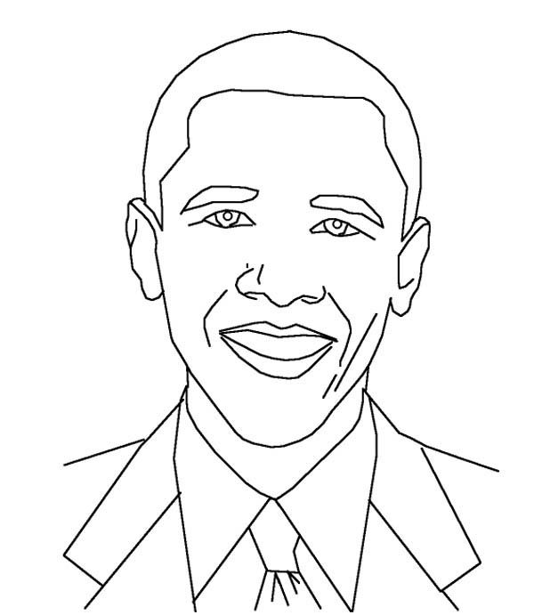 Captivating Coloring+pictures+of+barack+obama | Barack Obama, : Amazing Barack Obama  Coloring Page